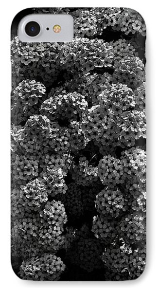 IPhone Case featuring the photograph Backyard Flowers In Black And White 21 by Brian Carson
