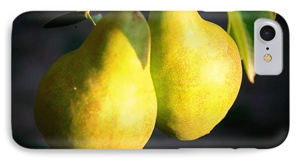 Backyard Garden Series - Two Pears IPhone Case by Carol Groenen