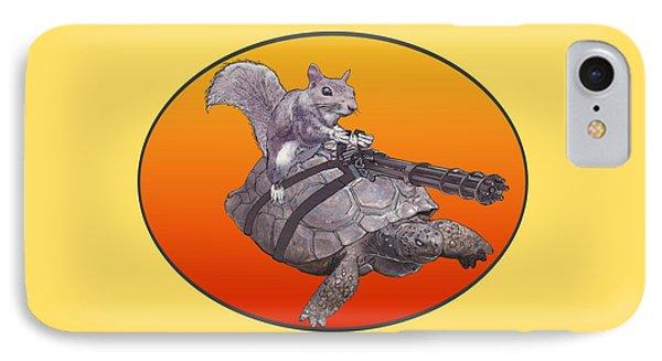 IPhone Case featuring the digital art Backyard Modern Warfare Crazy Squirrel by David Mckinney