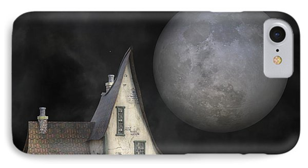 Backyard Moon Super Realistic  IPhone Case by Betsy Knapp