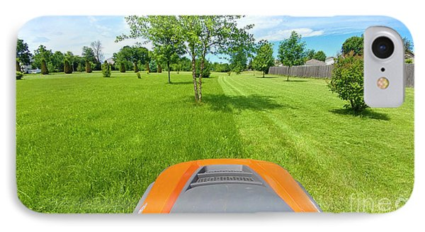 IPhone Case featuring the photograph Backyard Mowing by Ricky L Jones