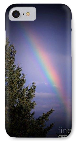 Backyard Rainbow Phone Case by Marjorie Imbeau