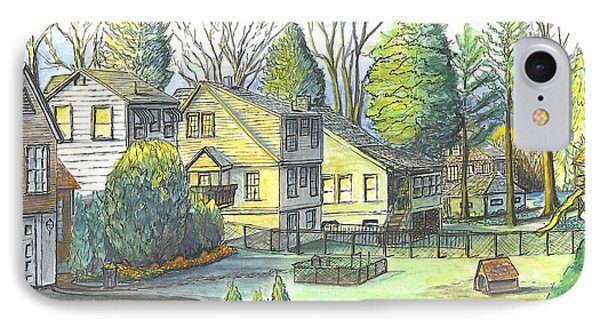 Hometown Backyard View IPhone Case by Carol Wisniewski