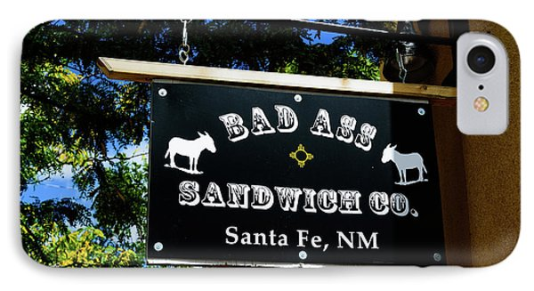 Bad Ass Sandwich Co - Santa Fe - New Mexico IPhone Case by Jon Berghoff