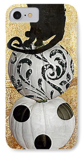 Bad Cat Halloween IPhone Case by Mindy Sommers