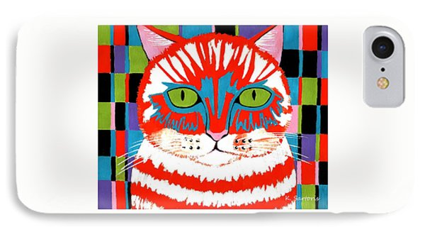 IPhone Case featuring the painting Bad Cattitude by Kathleen Sartoris