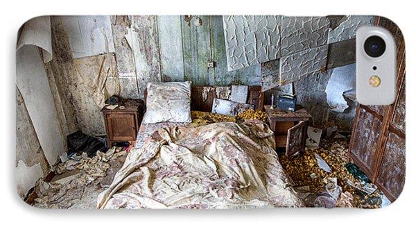 Bad Dream Bedroom - Abandoned House  IPhone Case by Dirk Ercken