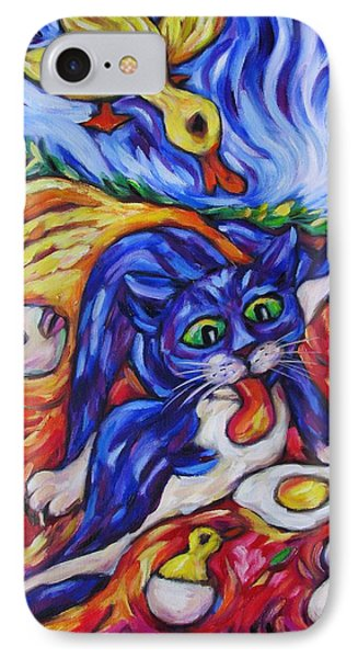 Bad Kitty Gets Caught IPhone Case by Dianne  Connolly