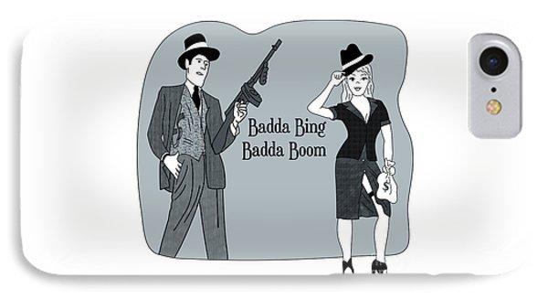 IPhone Case featuring the digital art Badda Bing Blue by Megan Dirsa-DuBois