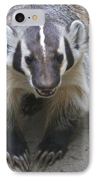 Badgered Badger Phone Case by Sean Griffin