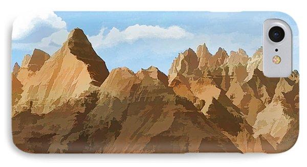 Badlands Peaks IPhone Case