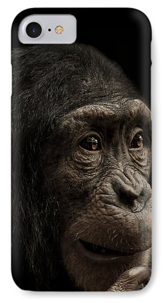 Chimpanzee iPhone 7 Case - Baffled by Paul Neville