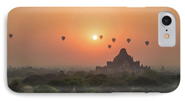 Burmese Python iPhone 7 Case - Bagan Temple by Delphimages Photo Creations