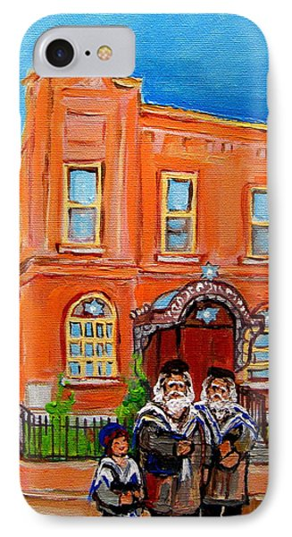 Bagg Street Synagogue Sabbath Phone Case by Carole Spandau