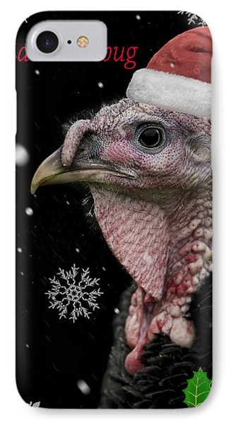 Turkey iPhone 7 Case - Bah Humbug by Paul Neville