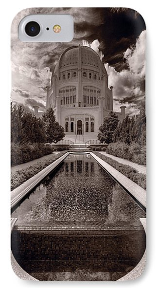 Bahai Temple Reflecting Pool Phone Case by Steve Gadomski
