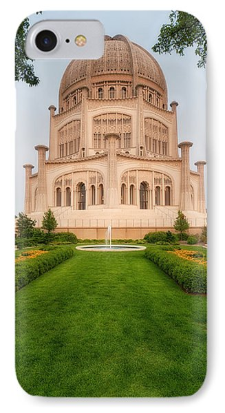 IPhone Case featuring the photograph Baha'i Temple - Wilmette - Illinois - Veritcal by Photography  By Sai