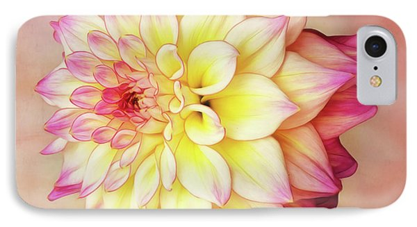 IPhone Case featuring the photograph Bahama Mama Dahlia Square by Mary Jo Allen