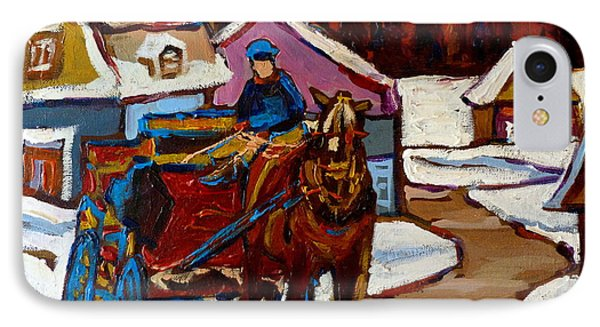 Baie Saint Paul Quebec Country Scene IPhone Case by Carole Spandau