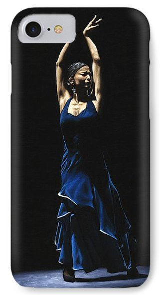 Bailarina A Solas Del Flamenco Phone Case by Richard Young