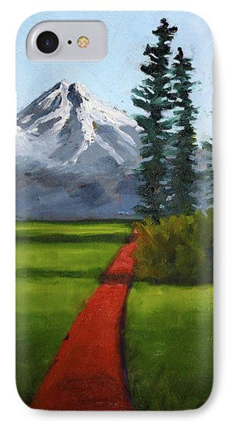 IPhone 7 Case featuring the painting Baker Meadow by Nancy Merkle