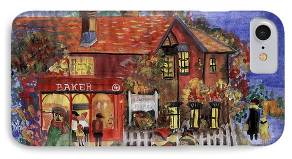 Bakers Inn Winter Holiday Landscape IPhone Case