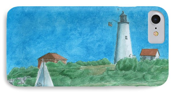 Bakers Island Lighthouse Phone Case by Dominic White