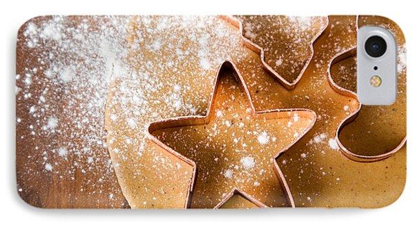 Baking Christmas Cookies IPhone Case