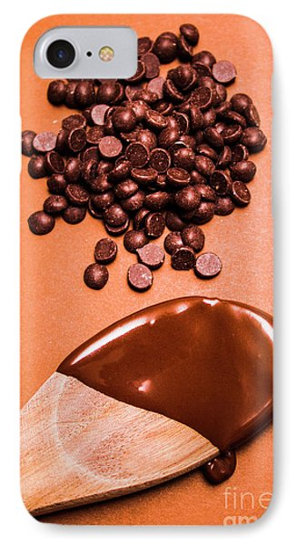 Baking Scene Of Spoon Covered With Chocolate IPhone Case by Jorgo Photography - Wall Art Gallery