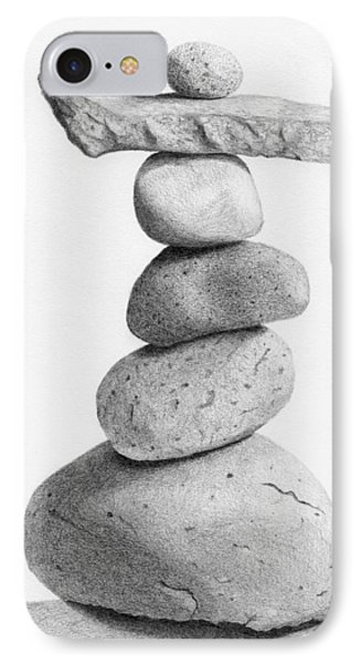 Balance 4  Drawing  IPhone Case by Garry McMichael