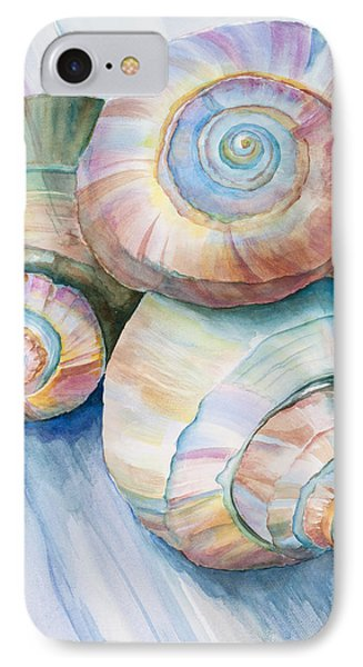 Balance In Spirals Watercolor Painting IPhone Case by Michelle Wiarda