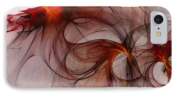 Balance Of Power Abstract Art IPhone Case by Karin Kuhlmann