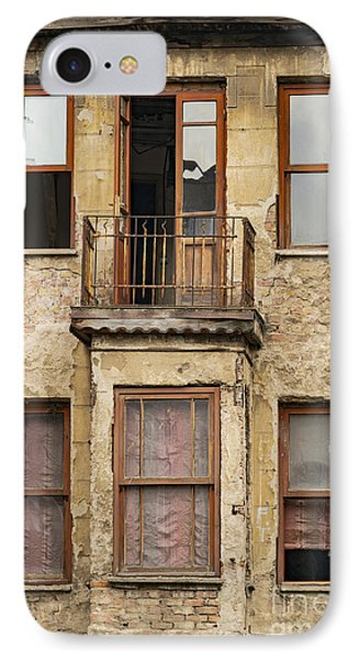 Balat Apartment Building IPhone Case by Bob Phillips