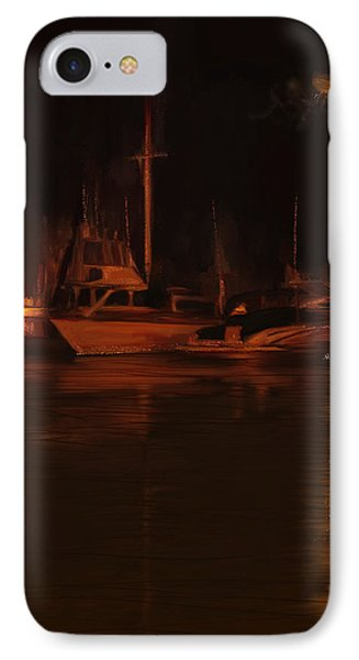 Balboa Island Newport Bay Night Phone Case by Angela A Stanton