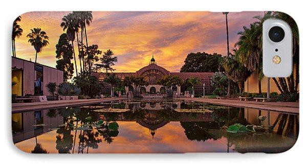 Balboa Park Botanical Building Sunset IPhone Case