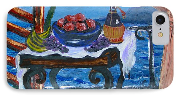 Balcony By The Mediterranean Sea Phone Case by Karon Melillo DeVega