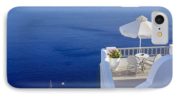 Balcony Over The Sea IPhone Case by Joana Kruse
