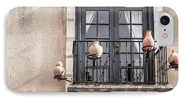 Balcony With Pitchers IPhone Case by Alexey Stiop