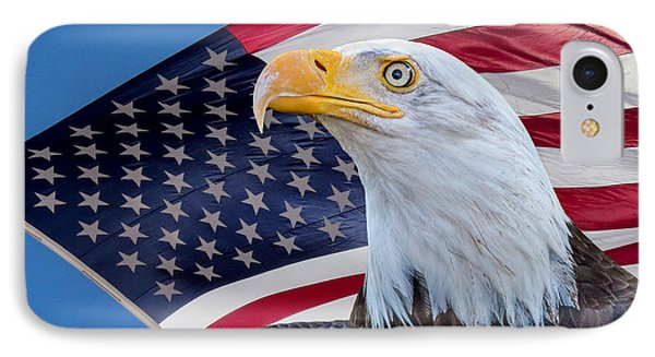 Bald Eagle And American Flag IPhone Case