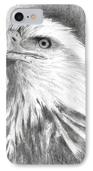 Bald Eagle Phone Case by Arline Wagner