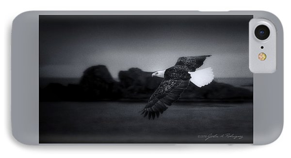 Bald Eagle In Flight IPhone Case by John A Rodriguez