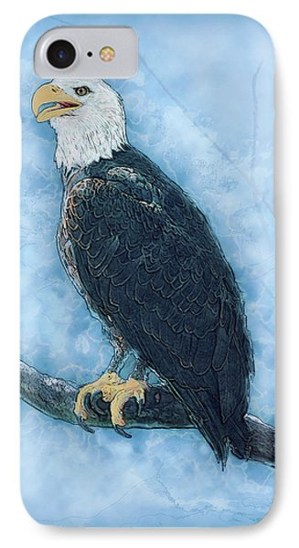 Bald Eagle IPhone Case by Jack Zulli