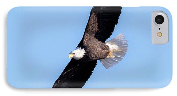 Bald Eagle Overhead  Phone Case by Ricky L Jones
