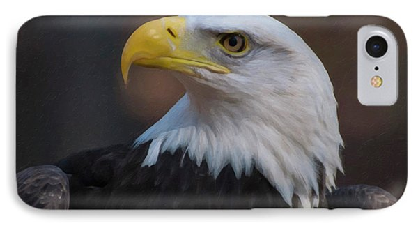 IPhone Case featuring the digital art Bald Eagle Painting by Chris Flees