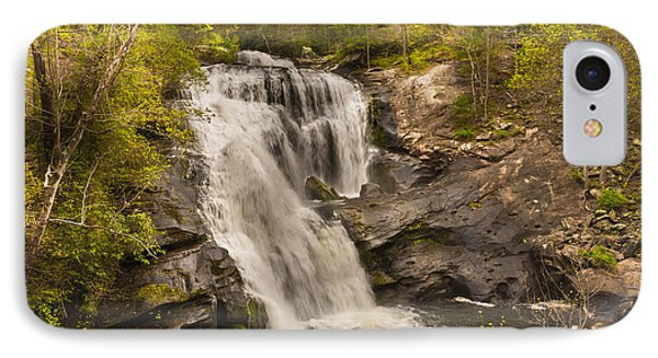 Bald River Falls Spring IPhone Case by Rebecca Hiatt