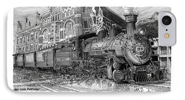 Baldwin 481   2 8 2   Narrow Gauge Steam Locomotive IPhone Case