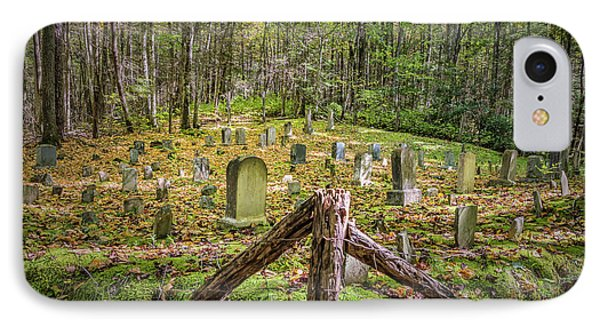Bales Cemetery IPhone Case by Patrick Shupert