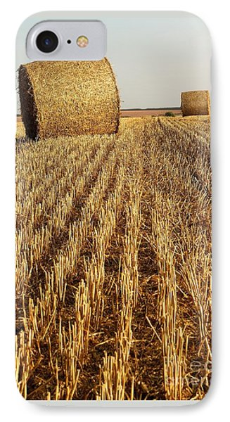 Bales Of Hay IPhone Case by Gary Bridger