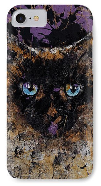 Balinese Cat IPhone Case by Michael Creese