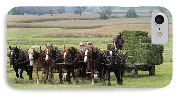 Baling The Hay IPhone Case by Lou Ford